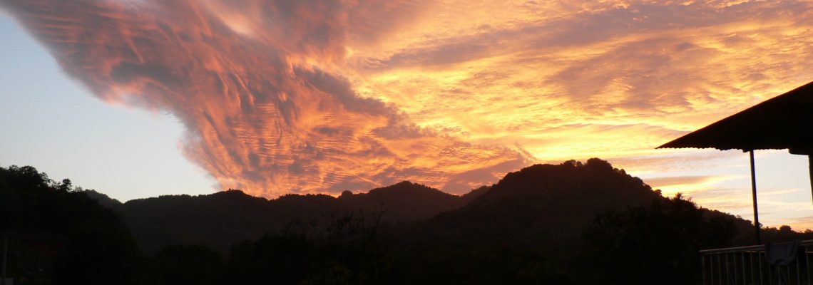 sunset over huasteca